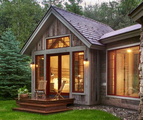 thule holzhaus woody creek guest house rustic exterior denver