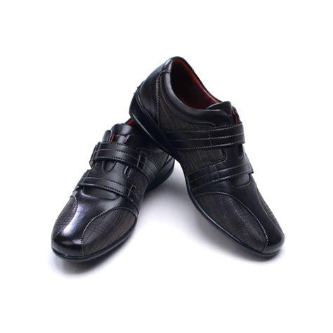 mens stitch detail comfort one velcro wedge heel
