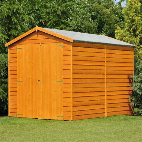 Windowless Shed by Shire Overlap Windowless Shed With Doors 12 X 6