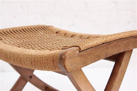 woven rope mid century modern rocking chair  ottoman  stdibs