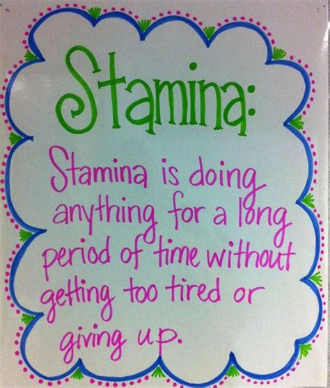 printable stamina poster 30 best classroom reading stamina images on pinterest