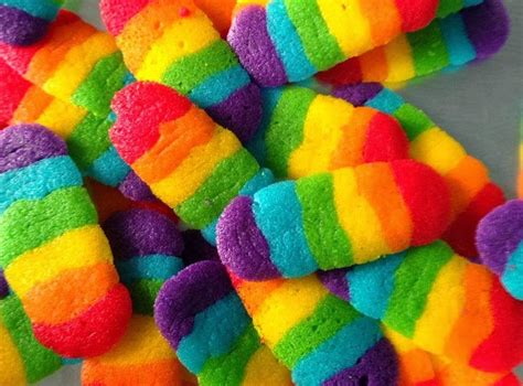 Rainbow Lidah Kucing resepi biskut lidah kucing rainbow cookies resepi