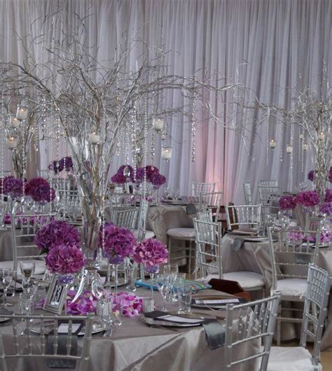 purple and gray wedding centerpieces make a statement with impressive wedding centerpiece ideas