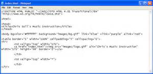 html code image notepad codes list