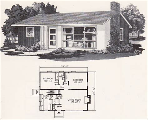 Small Retro House Plans | retro mid century modern plan weyerhauser design no
