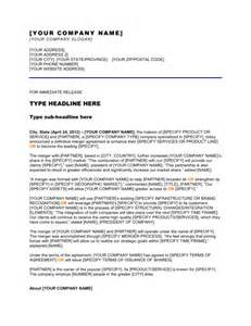 press release company has completed a merger template