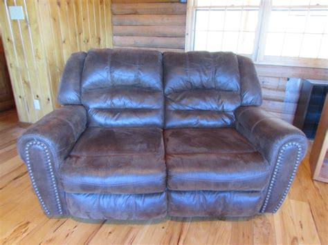 super comfy recliner lot detail super comfy leather look dual reclining loveseat