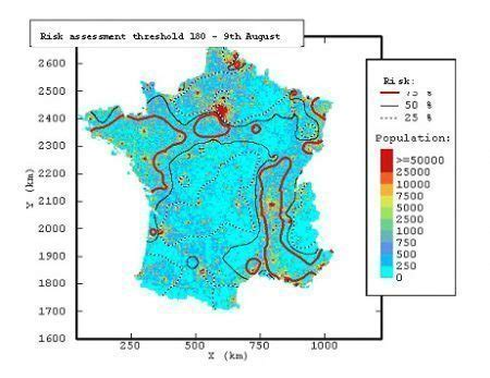 geostatistics applied to mapping and risk assessment