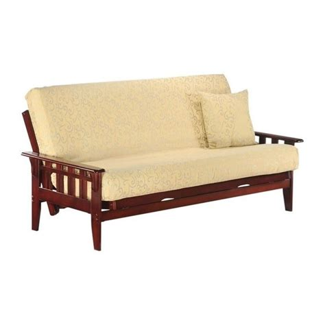 and day kingston wood futon frame in rosewood