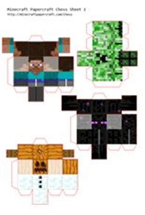 Papercraft Chess - minecraft papercraft chess