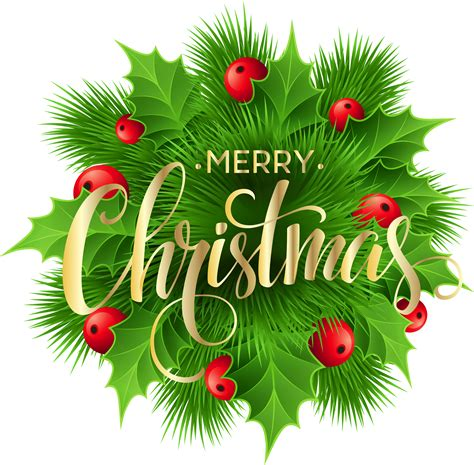 merry christmas pine decoration png clip art image gallery yopriceville high quality images