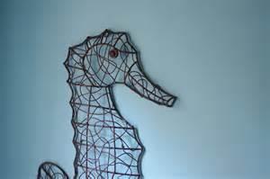Seahorse Wall Decor by Coastal Wall Decor Metal Wire Seahorse By
