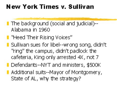 ppt new york times company v sullivan 1964 powerpoint