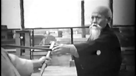 Morihei Ueshiba O Sensei - Rare Aikido Demonstration (1957 ... O Sensei Morihei Ueshiba
