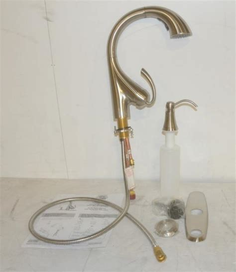 water ridge kitchen faucet water ridge 328792 tonette series pulldown kitchen faucet brushed nickel ebay