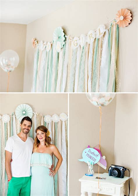 photo booth baby shower ideas mint gold quot blooming quot baby shower hostess with