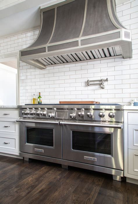 Zinc French Kitchen Hood with Satin Nickel Swing Arm Pot