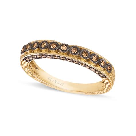 le vian chocolate wedding band 1 4 c t w in