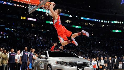 Griffin Dunk Kia Griffin Dunk S Car To Win Slam Dunk Competition