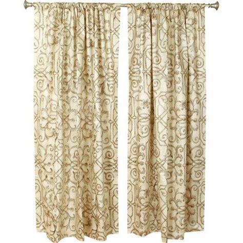 joss main curtains quatrefoil rod pocket tie up curtain panel joss and main