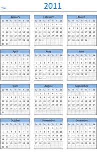 2011 Calendar Template 2015 year calendar template small new calendar template site
