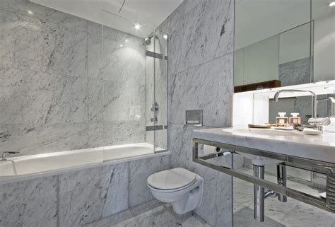 carrara marble tile white bathroom contemporary bathroom new york by all marble tiles