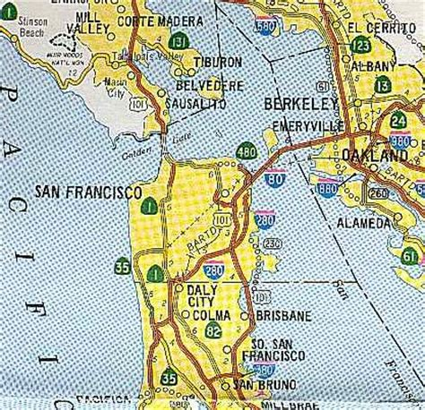 san francisco map rds california highways www cahighways org san francisco