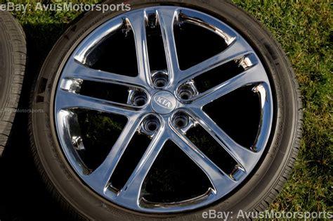 Kia Rims And Tires 2013 Kia Optima Sxl 18 Quot Chrome Factory Oem Wheels Tires