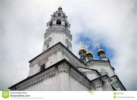 Cupola Tower Orthodox Church Cupola And Gold Crosses Royalty Free Stock