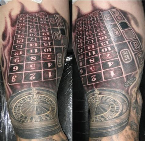 roulette table tattoo designs table casino