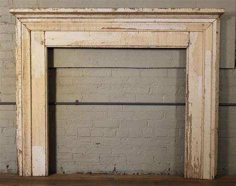 antique vintage rustic distressed painted wooden fireplace
