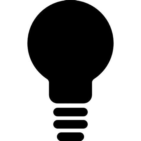 black lightbulb symbol icons free