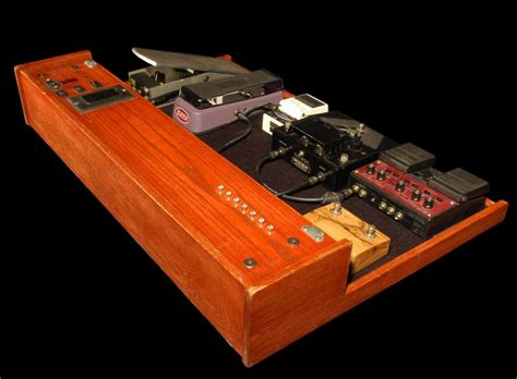 Handmade Pedal Board - made pedal board by donoghue wood works custommade