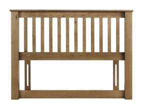 bilbao solid oak 180cm king size bed headboard jb28