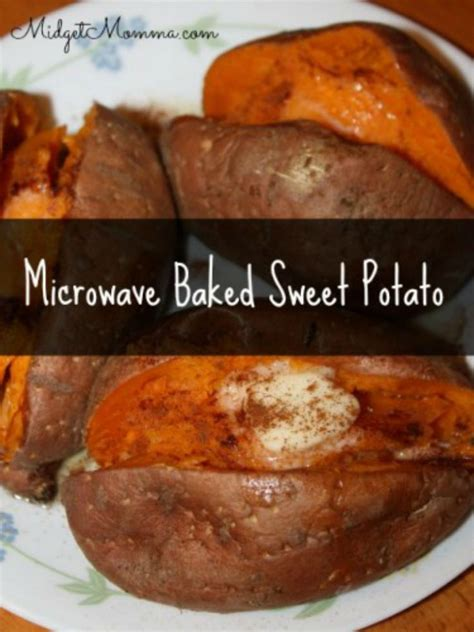 microwave baked sweet potato get the amazing taste of baked sweet potatoes but quicker using