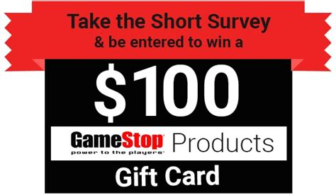 Gamestop Surveys For Gift Cards - tell gamestop feedback in survey to win 100 gift card sweepstakesbible