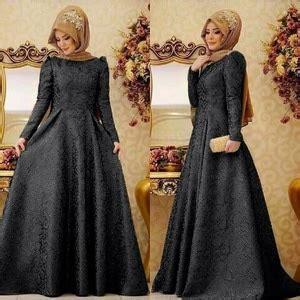 List Gamis Hitam Dress Murah Pakaian Muslim Wanita Kania Dress baju gamis dress muslim perempuan modern model terbaru