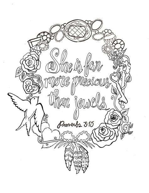 coloring book devotional proverbs 3 15 printable free 8x10 coloring devotions to