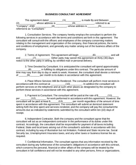 business contract template free sle business contract 5 documents in pdf