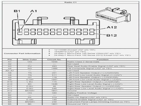 wiring diagram for 2005 chevy silverado radio images