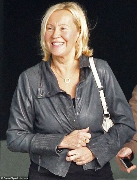 abba singer ag ha faltskog cuts a very youthful figure as she arrives in the uk daily mail