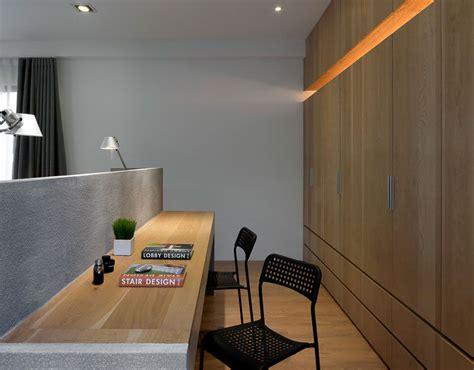 bedroom design idea  desk built