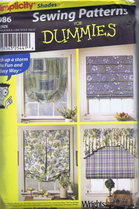Sewing pattern 9986 simplicity wrights curtain roman shade