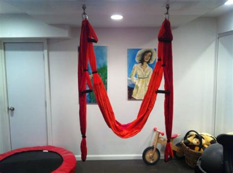 ceiling hook for swing a basement yoga swing biaggioni living solutions