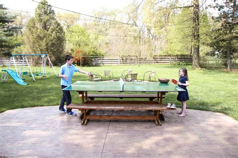 diy outdoor ping pong table diy ping pong table 171 momadvice
