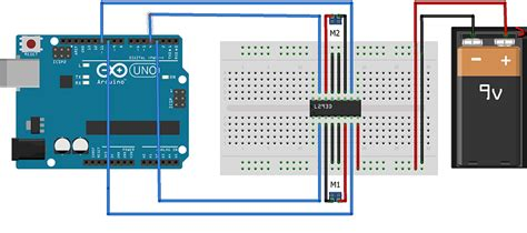 motor driver l293 interfacing l293d with arduino circuitstudy