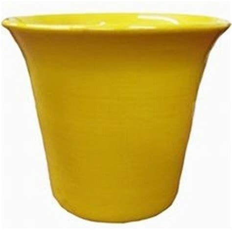 yellow gloss garden container colorful flower pots