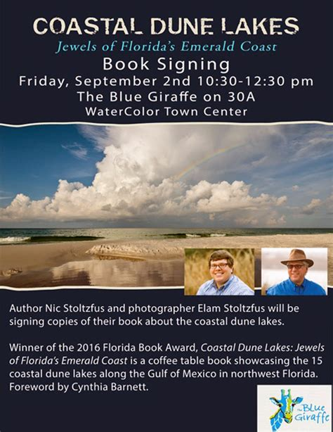the on 30a books coastal dune lakes jewels of florida s emerald coast