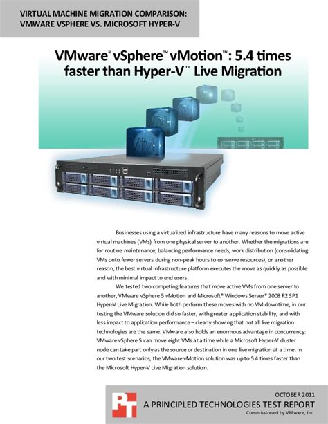 mastering vmware vsphere 6 5 leverage the power of vsphere for effective virtualization administration management and monitoring of data centers books vmware vsphere vmotion 5 4 times faster than hyper v live
