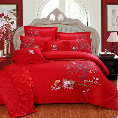 Bed Sheet Set Sale 4pc 5pc 6pc 7pc Embroidered Bird And Flower Pattern Bedding Set Sale Bed Sheet Quilt Cover